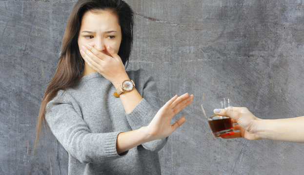 woman refused alcohol drink
