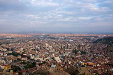 looking Afyon from the castle