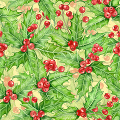 Holly berry watercolor