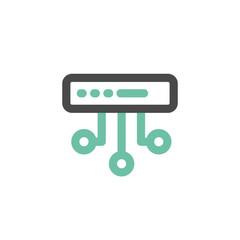 Simple icon of Server flat vector bicolor line design concept