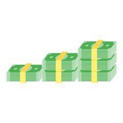 Simple Business Flat Vector of Cash Money Icon Design Template. Colorful Paper Money Vector Illustration.
