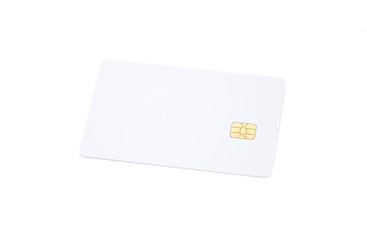 Blank credit card,ATM card isolated on white background