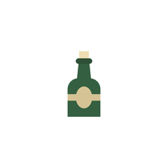 Flat Icon Rum Element. Vector Illustration Of Flat Icon Bottle Isolated On Clean Background. Can Be Used As Rum, Bottle And Drink Symbols.