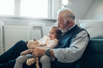 She enjoys time with her grandpa