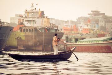 Der Hafen von Sadarghat, Dhaka