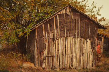 old boardwalk abandoned house