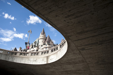 Chateau Laurier from below