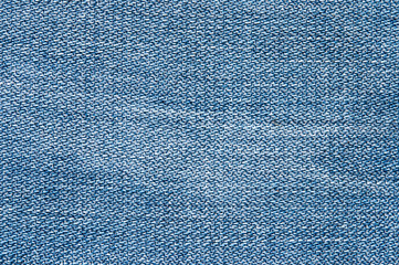 The texture of jeans, top view.