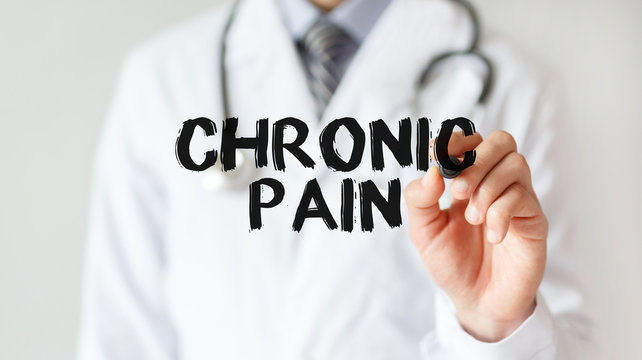 Doctor writing word Chronic Pain with marker, Medical concept