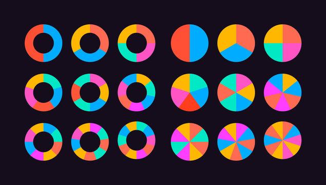 circle diagram segments vector