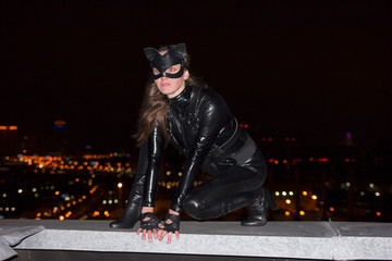 The girl in the image of the cat-woman