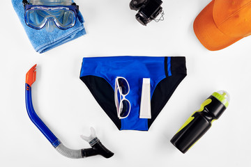 Set of items for summer recreation