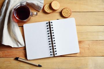 Autumn concept - keeping a diary, entry plan.