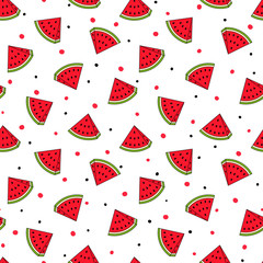 Watermelon Seamless Pattern, Vector illustration