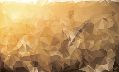 Yellow low poly background. Mosaic polygonal colorful