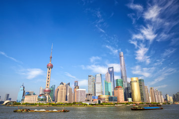 Shanghai skyline with Huangpu River, China