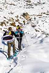 Trekking, escursionismo con racchetta da neve
