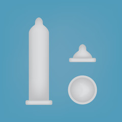 latex condom icons set- vector illustration