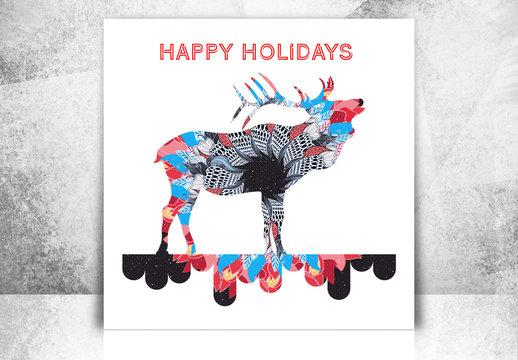 Holiday Reindeer Social Media Set