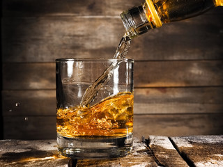 Whiskey pouring