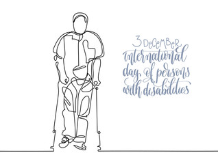 3 december world disability day hand lettering typography poster