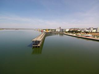 Huelva. El muelle de  Riotinto es un muelle-embarcadero comercial del material procedente de las minas de la Compañía Minera Rio Tinto
