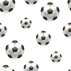 Realistic Detailed Soccer Ball Background Pattern. Vector