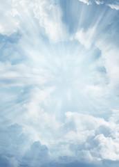 Keuken foto achterwand Hemel Rays in sky