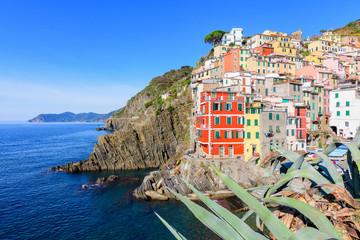 colorful riomaggiore town of cinque terre, italy