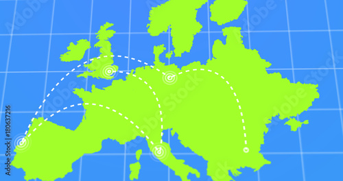 Travel and business trip infographic on green europe earth map 4k travel and business trip infographic on green europe earth map 4k rendered video gumiabroncs Choice Image