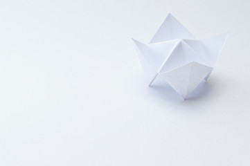 origami fortune teller close up on white background