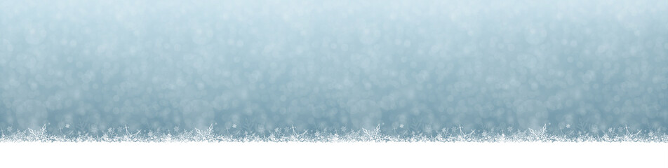Snowfall Christmas and New Year Winter Blue Gray Background