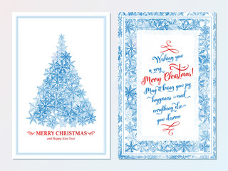Christmas card. Happy new year print concept. Holiday wishes