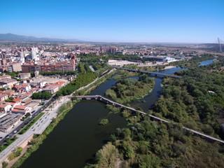 Talavera de la Reina ( Toledo) desde el aire