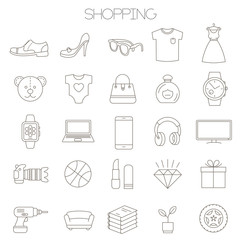 online store sopping icon set