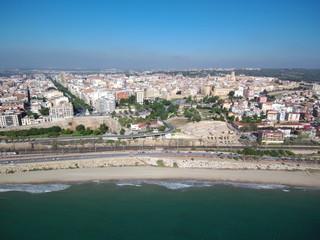 Anfiteatro romano de Tarragona desde el aire. Patrimonio de la Humanidad