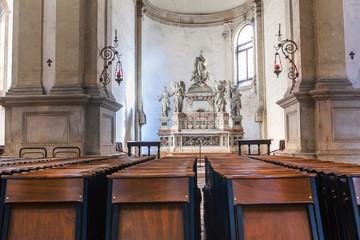 inside catholic cathedral