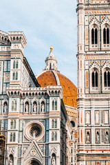 Spoed Fotobehang Florence famous duomo cathedral of florence, italy