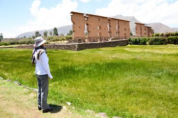 Woman tourist in Peru