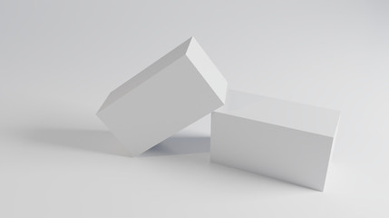 3d render of boxes on a background