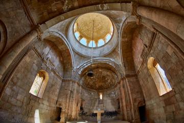 NORAVANK MONASTERY, ARMENIA - 02 AUGUST 2017: Inside Noravank Monastery in Armenia