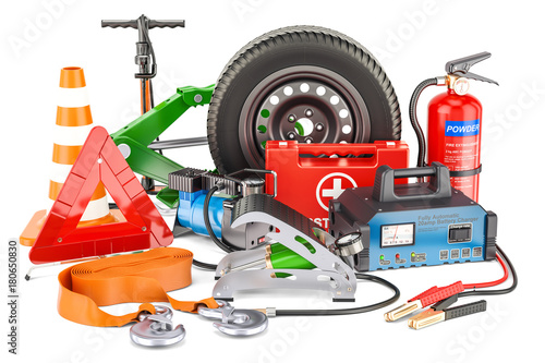 Car tools equipment and accessories 3d rendering stock for Online rendering tool