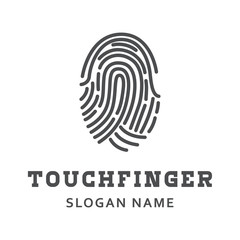 Logo finger print design vector illustration
