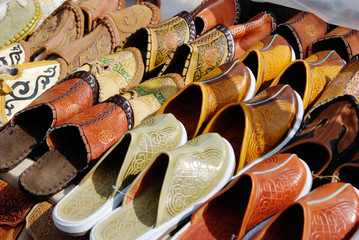 Mongolian leather slippers