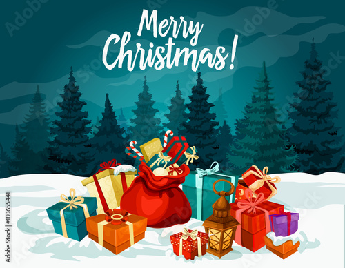 Christmas holiday greeting card with new year gift stock image and christmas holiday greeting card with new year gift m4hsunfo