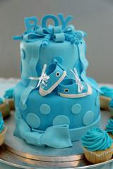 Baby Shower Boy Birthday Cake
