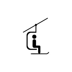 ski lift icon. Simple winter games icon. Can be used as web element, playing design icon