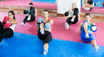 Women doing box exercises