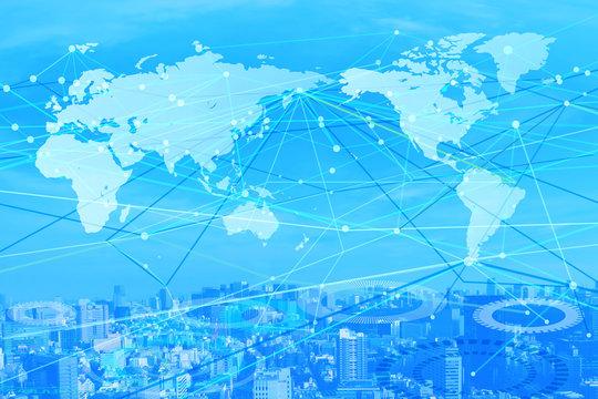 世界のネットワークイメージ