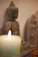 仏像 キャンドル ヨガ